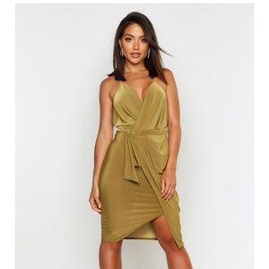 Boohoo wrap dress